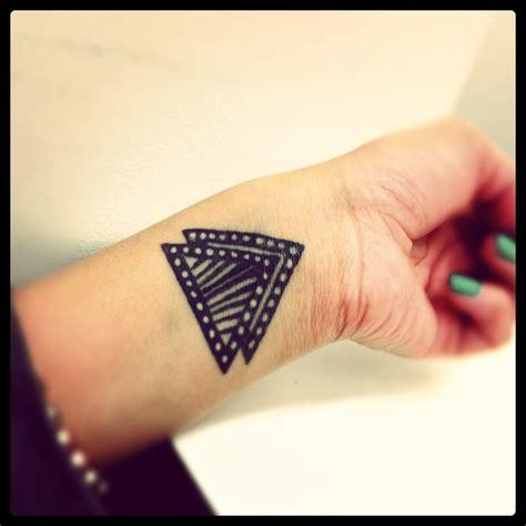 two triangles tattoo triangle tattoos