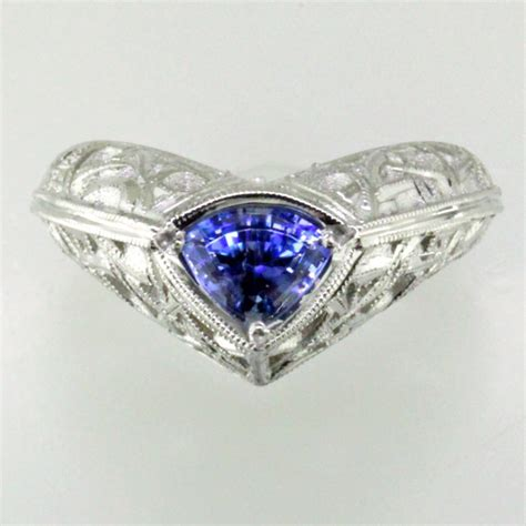 benitoite engagement ring ooak benitoite platinum engagement ring strictly custom