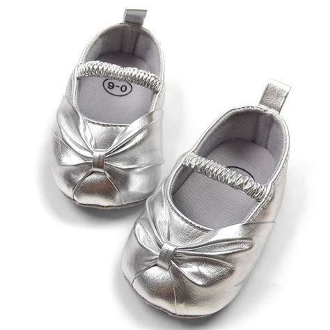 formal dress baby shoes for silver toddler soft