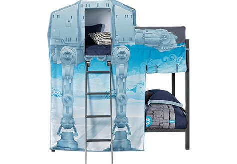 star wars bunk bed star wars at at walker gray twin twin bunk bed bunk loft
