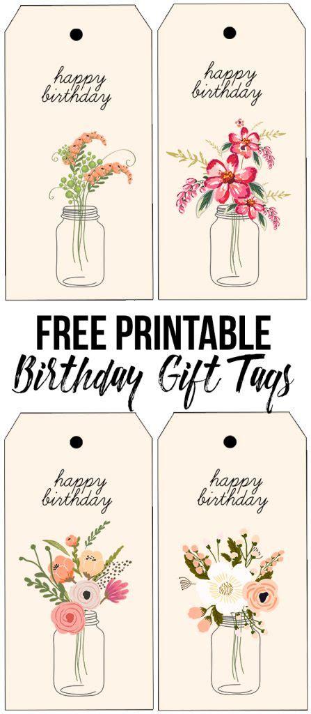 printable anniversary gift tags floral printable birthday gift tags live laugh rowe