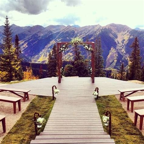 beautiful wedding venues in colorado the wedding deck the nell in aspen colorado i
