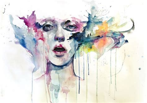 watercolor paintings by agnes cecile colossal