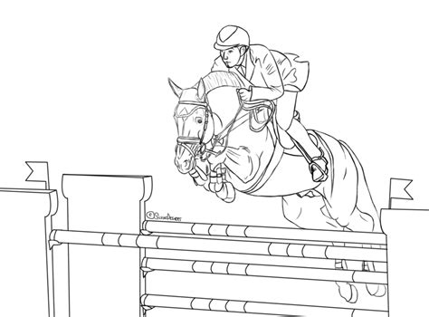 coloring pages horses jumping pin horses jumping coloring pages on pinterest