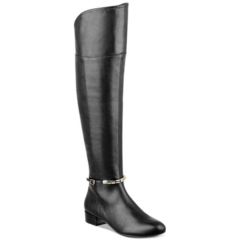 marc fisher the knee boots marc fisher boots the knee boots in black lyst