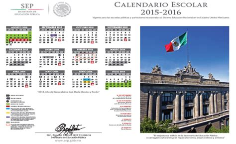 Calendario Escolar 2015 Sep Ciclo Escolar 2015 2016 Inicia El 24 De Agosto Sep Ieepo
