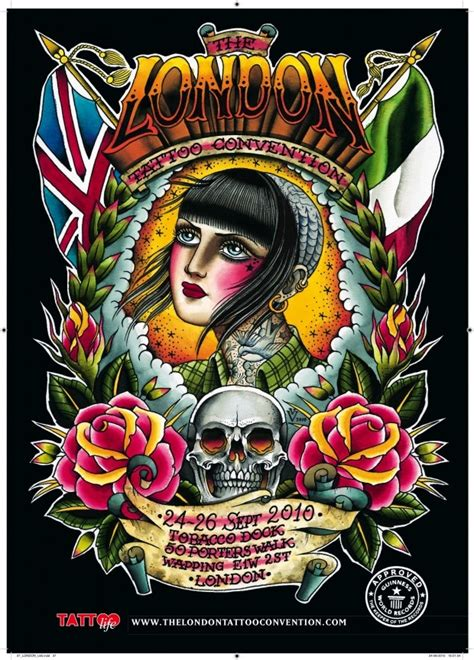london tattoo convention poster 2010 by valerie vargas