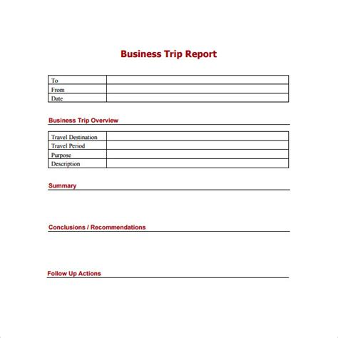 sle trip report template sle of business trip report 28 images inspirational