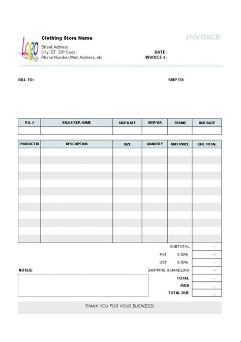 libreoffice invoice template invoice sle template