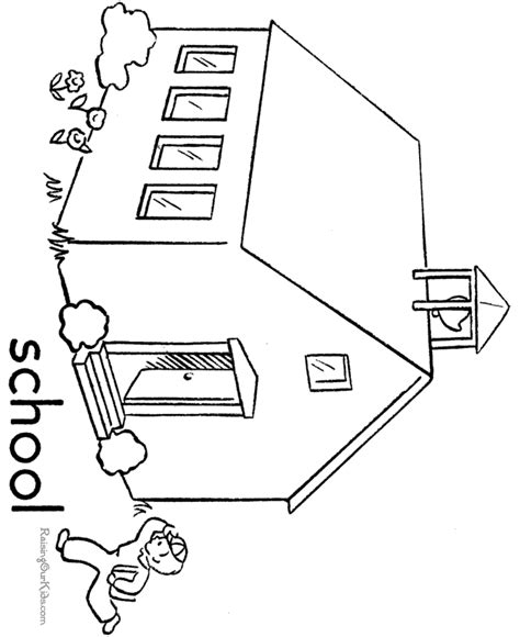 printable coloring pages school fun school page to print and color 016
