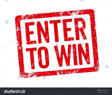 to enter red st enter win stock illustration 191427959