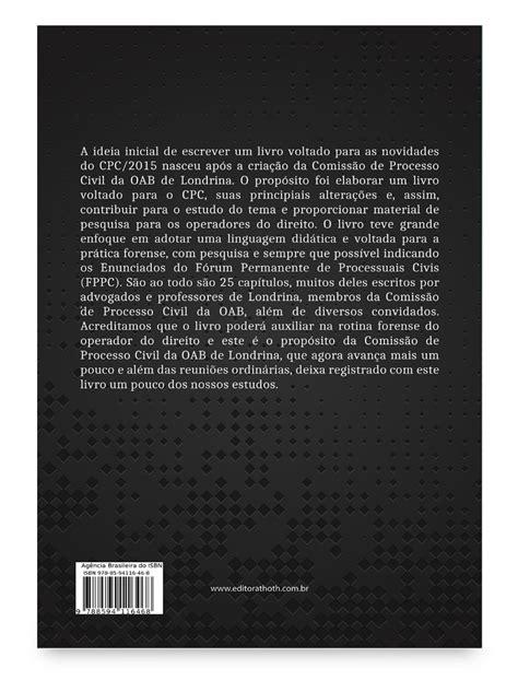 Livro: Principais Inovações do Novo Código de Processo