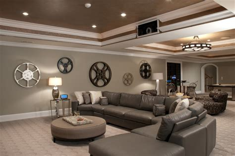 basement decor impressive movie wall decor decorating ideas gallery in