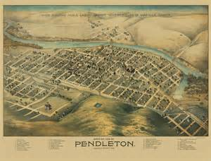 pendleton oregon map panoramic maps pendleton oregon or by lith dakin