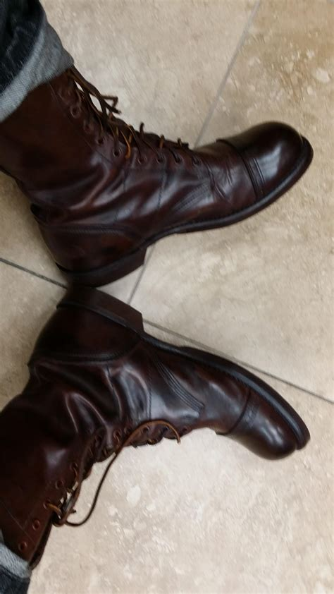 Antiqueing i aged a pair of wwii paratrooper boots in order to make