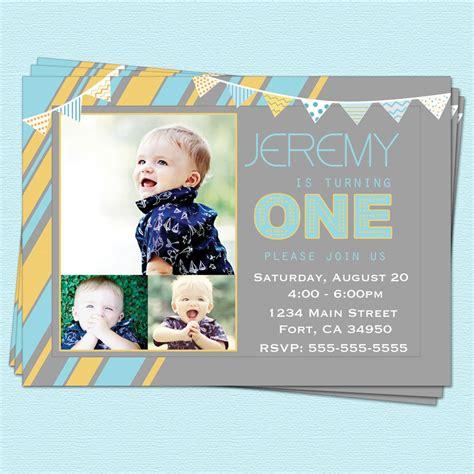 1st birthday invitations boy templates 1st birthday invitations boy modern by