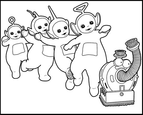 Teletubbies Coloring Pages by Activity Teletubbies Printable Coloring Picture For