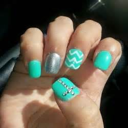 simple acrylic nail designs with rhinestones images