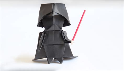 Origami Wars Darth Vader - make your own origami darth vader technabob