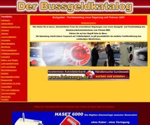 Bußgeldkatalog Auto bussgeldkatalogneu de der neue bussgeldkatalog 2009 ist