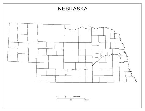 nebraska county map nebraska blank map
