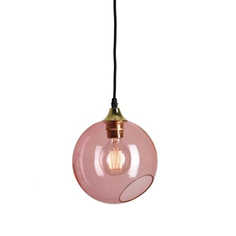 Pink Glass Pendant Light Colorful Transparent Glass Design Pendant Light Ballroom