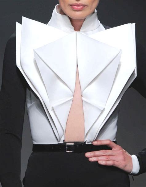 Origami In Fashion - origami fashion on wearable fabric