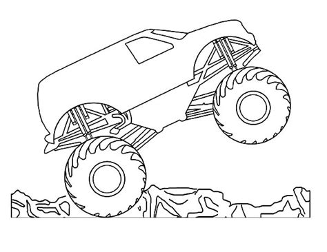 monster jam monster trucks coloring pages printable hot
