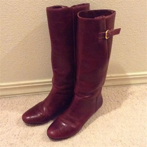 wine colored boots 50 steven by steve madden boots reserved steven