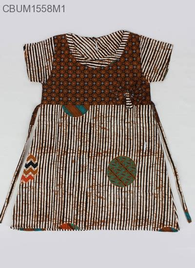 Dress Anak Motif Garis dress batik anak hasna motif garis m dress murah