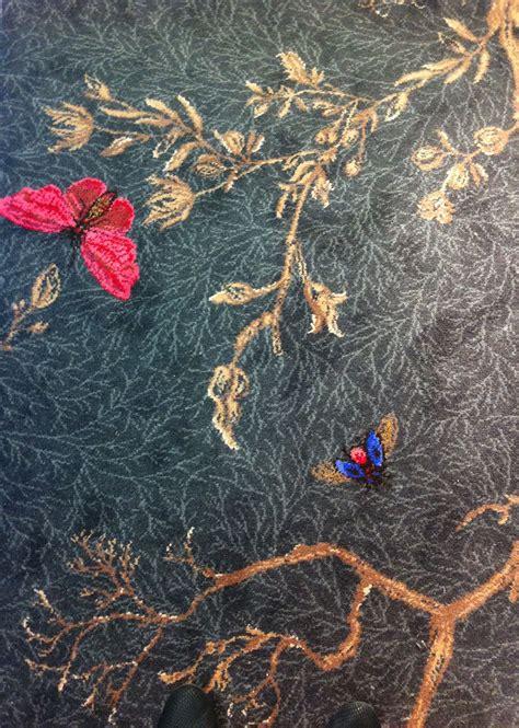 noir ruskin butterfly carpet  timorous beasties bedroom carpet patterned carpet rugs  carpet