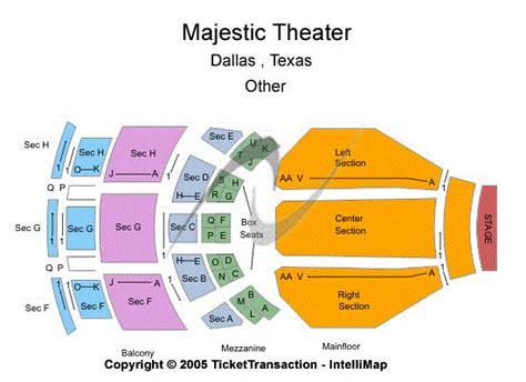 majestic theatre dallas seating chart
