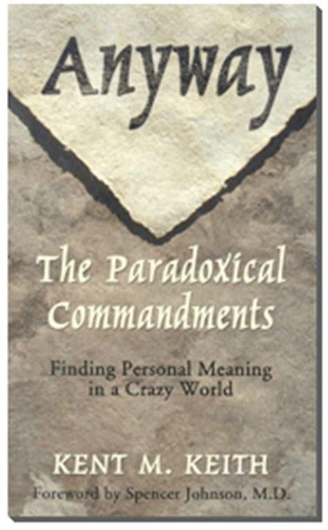 Paradoxical Commandments Printable