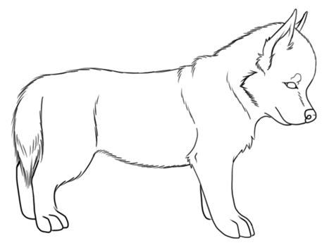 puppy outline husky puppy outline by kitkitshinigami on deviantart