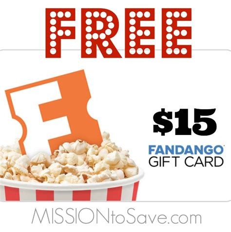 Fandango Gift Card Promo - free fandango gift card after cash back mission to save