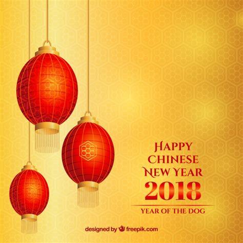 freepik new year yellow new year background with lanterns vector