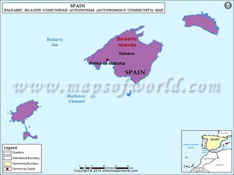 islas baleares map spain