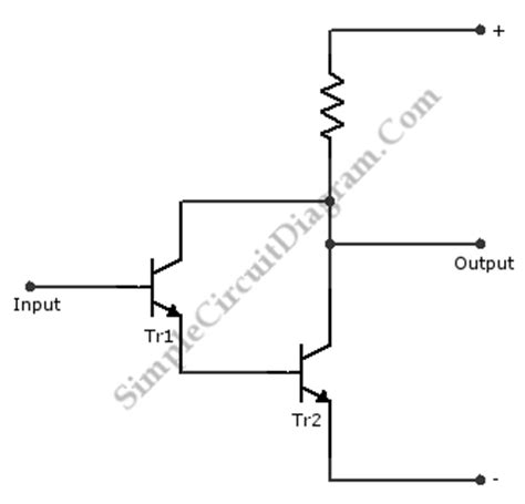 darlington transistor output darlington pair transistor configuration simple circuit diagram