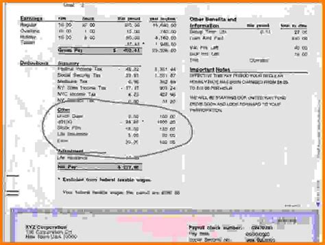9 Adp Pay Stub Template Pdf Sles Of Paystubs Adp Pay Stub Template