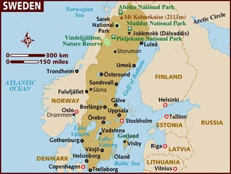 Sweden World Map by Map Of Sweden