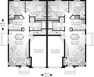 Nice Dining Room Sets Alexandria Place Duplex Home Plan 032d 0045 House Plans