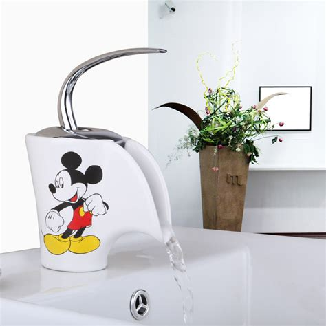 Basin Faucet Torneira Bathroom Mickey Mouse Ceramic Mickey Mouse Bathroom Fixtures