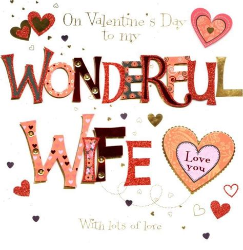 printable valentine card for wife wonderful wife valentine s day greeting card cards