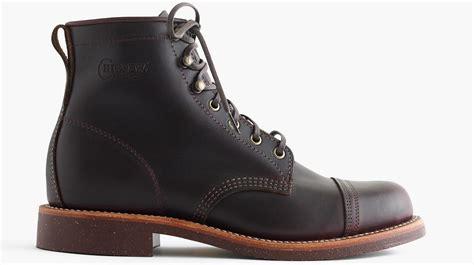 alert original chippewa for j crew cap toe boots
