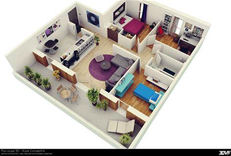 plan en 3d beautiful plan en 3d with plan en 3d d floor plans galerie 3dvf com plan coup 233 3d t4 par conceptark