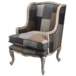 Patchwork Wing Chair - patchwork wing chair masculine furniture polyvore