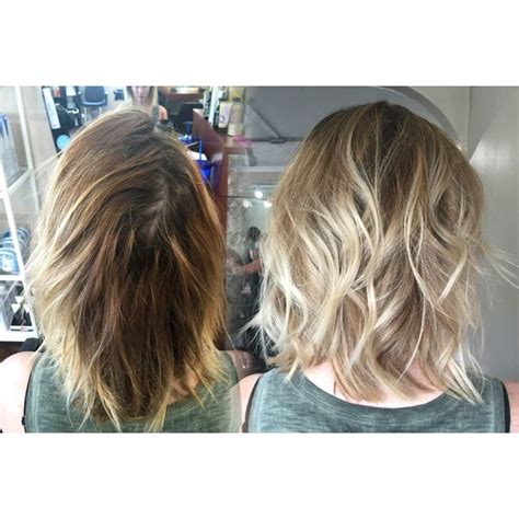 wavy long bob before and after pic 17 best images about hair color on pinterest silver