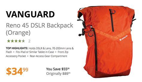 Vanguard Reno 18 Orange deal of the day vanguard reno 45 dslr backpack in sony orange