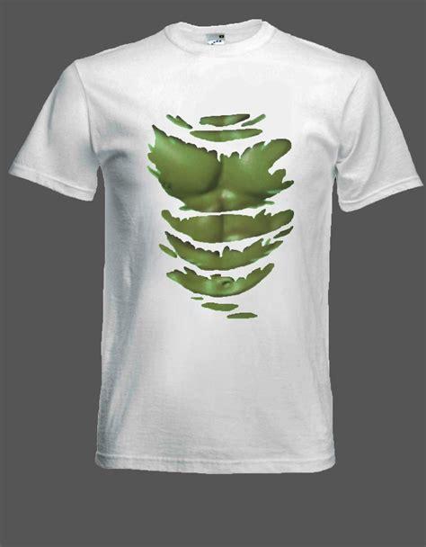 Tshirt Kaos Batman 7 green t shirt muscles through ripped shirt size