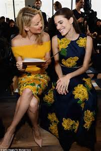 kate hudson and allison williams wear floral frocks at kate hudson and allison williams wear floral frocks at
